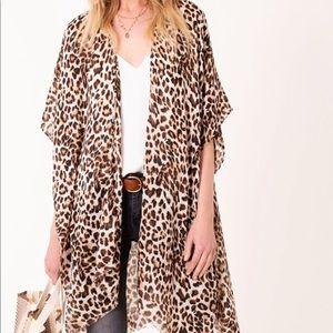 Jackets & Blazers - Leopard Kimono